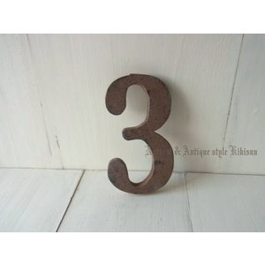 Number 3 / ナンバー3 数字のオーナメント・メール便発送可能です|kikisuu