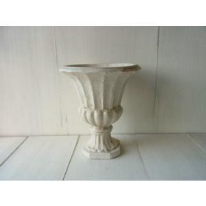 Classique Pot long / 南欧風の白いクラシカルなフラワーポット。フラワーアレンジにもおすすめ|kikisuu