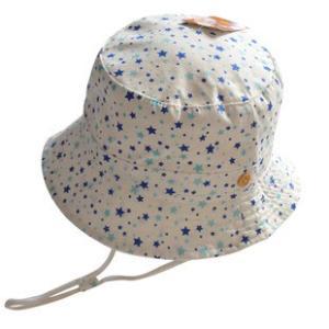 【送料無料】UVハット キュートな細かい星柄♪安心のあごひも付き。綿100%|kikkousisyoppu