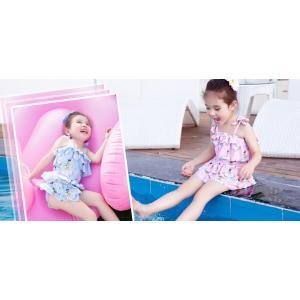 ☆おしゃれ☆ワンピース☆女の子の水着、S〜2Lまで、肌に優しい、紫外線防止、弾性高いので、子供が存分に水遊び出来ます。【メール便対応】|kikkousisyoppu