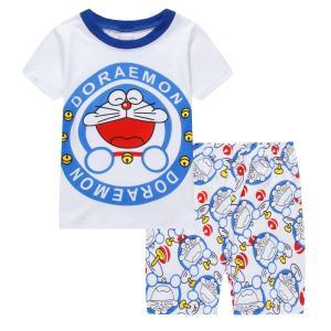 キッズ 子供服 ジュニア 上下セットルームウェア  パジャマ 半袖&短パン(ドラえもん)90cm〜130cm 春夏 薄手綿100%|kikkousisyoppu
