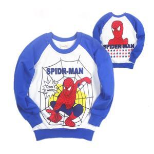 【送料無料】スパイダーマン 薄手トレーナー 90cm〜130cm 綿100% 襟ぐり・袖口・裾はリブ素材|kikkousisyoppu