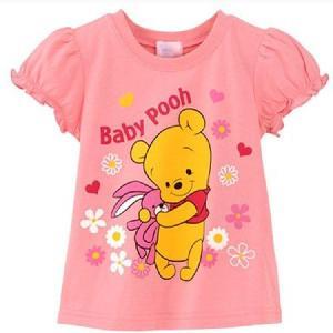 送料無料BabyPoohプリント半袖Tシャツ90cm〜130cm 韓国子供服 春夏 メール便対応|kikkousisyoppu