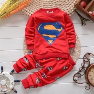 大人気★キッズ かっこいいパーカー スーパーマン上下セット  アップスウェット 選べる全3色♪ プレゼントにも最適★|kikkousisyoppu