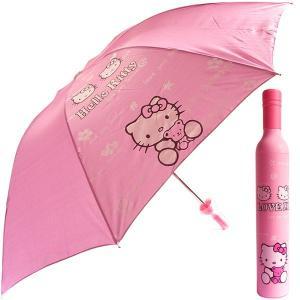 プラスチックケース付き☆折りたたみ傘(キティ)重さ342g 広げた半径約54cm 骨8本 長さ約60cm 雨傘|kikkousisyoppu