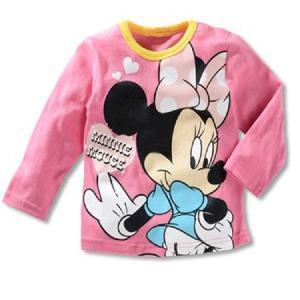 【送料無料】ディズニー ミニーマウス薄手長袖Tシャツ 90cm〜130cm 綿100%|kikkousisyoppu