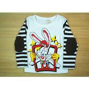 【送料無料】ディズニー ホワイトラビット薄手長袖Tシャツ 90cm〜130cm 綿100%|kikkousisyoppu