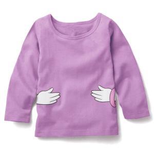 【送料無料】ディズニー デイジー 薄手長袖Tシャツ 90cm〜130cm 綿100%|kikkousisyoppu