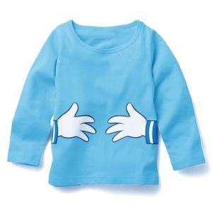 送料無料ディズニー ドナルドダック 薄手長袖Tシャツ 90cm〜130cm 綿100%