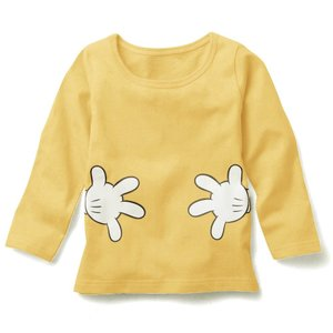 【送料無料】ディズニー ミッキー 薄手長袖Tシャツ 90cm〜130cm 綿100%|kikkousisyoppu