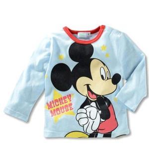 【送料無料】ディズニー ミッキーマウス薄手長袖Tシャツ 90cm〜130cm 綿100%|kikkousisyoppu
