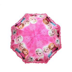 大人気☆アナと雪の女王長傘 ワンタッチ式 65cm傘 名前札付き 2色|kikkousisyoppu