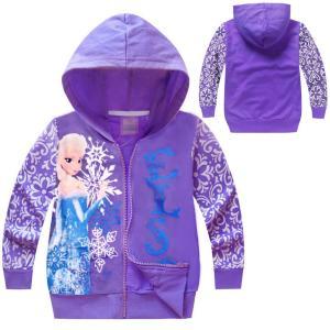 【送料無料】アナーと雪の女王フード付きパーカー95cm〜140cm 綿100% 袖口・裾はリブ素材|kikkousisyoppu