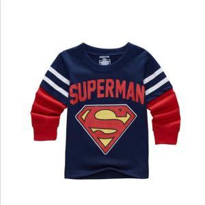 【送料無料】スーパーマン薄手長袖Tシャツ 90cm−130cm 綿100%|kikkousisyoppu