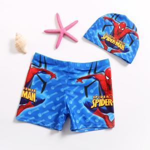 送料無料キャップ付き 男の子水着(スパイダーマン) 肌に優しい、弾力性高い、泳帽付きメール便対応 kikkousisyoppu