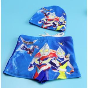 送料無料水着 ウルトラマン 85cm〜135cm春夏水泳帽付きメール便対応 kikkousisyoppu