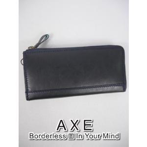 アックス AXE L字ファスナー長財布 (20×10.5×2.5cm:メンズ) 新作モデル kikuji