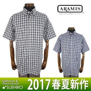 アラミス ARAMIS カジュアルウェア 半袖シャツ (M/L寸:メンズ) 2017春夏新作モデル 36%OFF/SALE|kikuji