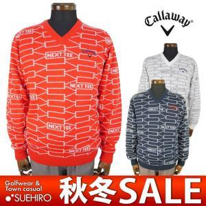 キャロウェイ Callaway ゴルフウェア Vネックニットセーター (M/L/LL/3L寸:メンズ) 2017秋冬新作モデル 31%OFF/SALE 241-7260512|kikuji