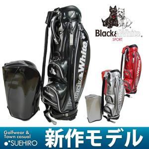 ブラック&ホワイト Black&White ゴルフ キャディバッグ (9型・4.8kg:メンズ) 新作モデル|kikuji
