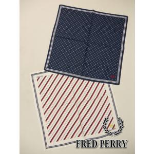 フレッドペリー FRED PERRY プリントハンカチーフ (FREE(45×45cm):ユニセックス) 2017新作モデル|kikuji