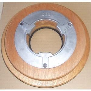 業務用ポリシャー用品「リンレイ : ドライビングパッド台8インチ用(230mm)P付」|kikumi