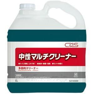 便所の清掃用洗浄剤 「シーバイエス:CREW中性マルチクリーナー 5L」業務用清掃用品|kikumi