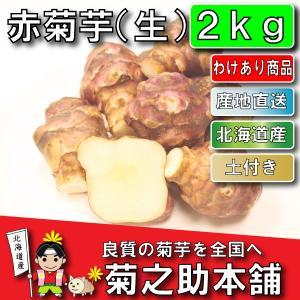 【わけあり商品】北海道産 無農薬 化学肥料不使用 生 土付き 赤 2kg