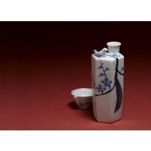 酒器 うぐいす盃と徳利セット( 梅木 )|kikusui-sake