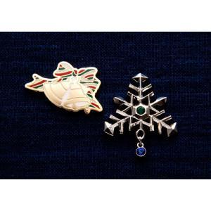 KEITA MARUYAMA プロデュース菊水オリジナルピンバッジ雪の結晶&クリスマスベル