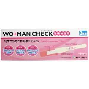 【第2類医薬品】 ウー・マン チェック 妊娠検査薬 2回用|kikuya174