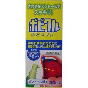 【第3類医薬品】 ポピクル のどスプレー メントール味 30mL|kikuya174