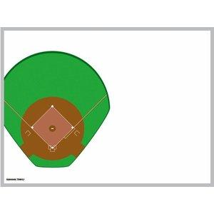 【送料別】移動式カラフル作戦板 ベースボール 【三和体育】S-7918