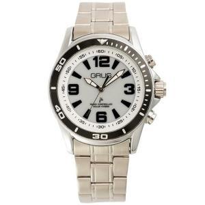GRUS グルス ボイスソーラー 電波 腕時計 ステンレスバンド×文字盤ホワイト GRS004-01 kilalinet
