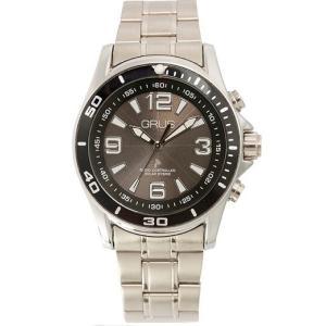 GRUS グルス ボイスソーラー 電波 腕時計 ステンレスバンド×文字盤ブラック GRS004-02 kilalinet