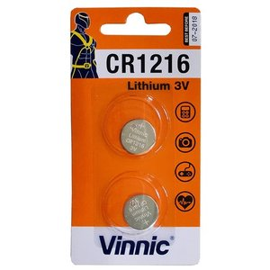 『売切れ御免』Vinnic コイン形リチウム電池 ボタン電池 CR1216 2個 CR1216-C2|kilat