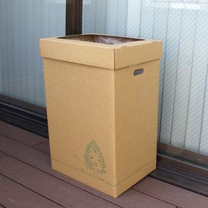 『発売記念セール』 『法人様限定』 GRATES ダストボックス ダンボールゴミ箱 45L 3個×5セット 段ボール 簡易ゴミ箱|kilat|05