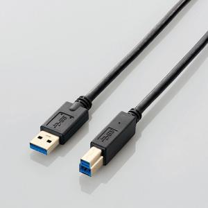 『売切れ御免』 エレコム USB3.0ケーブル A-Bタイプ スタンダード 1m ブラック USB3-AB10BK|kilat