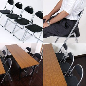 GRATES 折りたたみパイプ椅子 8脚セット [ パイプ 椅子 イス いす パイプ椅子 パイプイス オリジナル ]|kilat|03