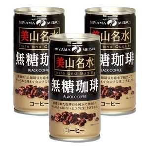 京都美山名水の無糖コーヒー 190ml×30本(3缶100円税抜)