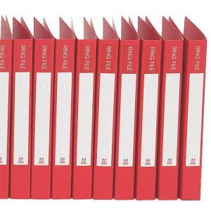 『売切れ御免』 ビュートン リングファイル レッドPP 10冊 30mm|kilat