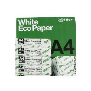 『コピー用紙』キラット ホワイトエコペーパー A4サイズ 2箱セット(5000枚×2箱)|kilat