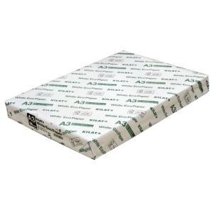 『コピー用紙』キラット ホワイトエコペーパー A3サイズ 1冊(500枚)