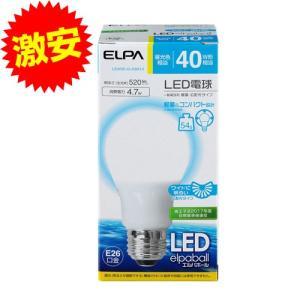 『売切れ御免』ELPA LED電球 E26 40W相当 広がる光タイプ A形 昼光色 LDA5D-G-G5013〔広配光 朝日電器 LED 電球〕|kilat