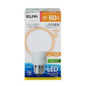 『売切れ御免』ELPA LED電球 E26 60W相当 広がる光タイプ A形 電球色 LDA8L-G-G5016〔広配光 朝日電器 LED 電球〕 kilat