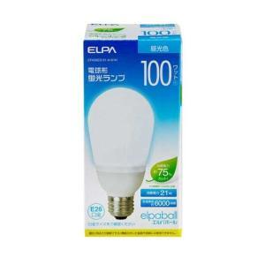 『売切れ御免』 電球形蛍光灯 100Wタイプ E26 昼光色 A型 EFA25ED/21-A101H ELPA kilat