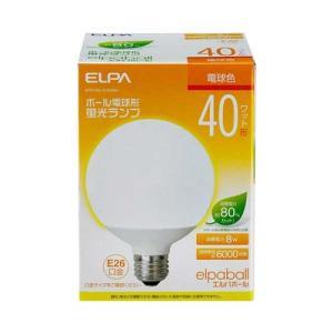 『売切れ御免』 電球形蛍光灯 40Wタイプ E26 電球色 G型 EFG10EL/8-G042H ELPA kilat