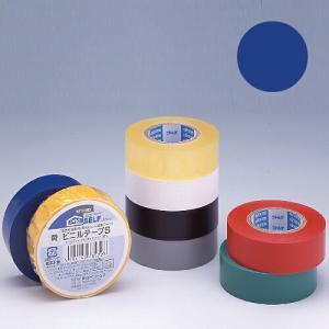 ニトムズ ビニールテープS 19×10mm 青|kilat