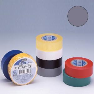ニトムズ ビニールテープS 19×10mm 灰|kilat