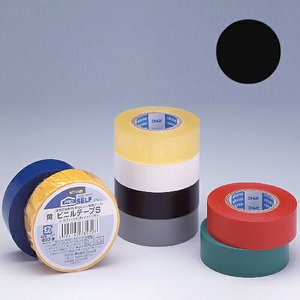 ニトムズ ビニールテープS 19×10mm 黒|kilat